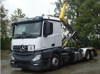 Mercedes-Benz ACTROS 2545 6x2 EURO6 Abrollkipper Palfinger 22T  - camion cu cârlig