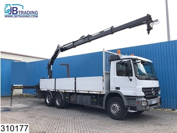 Mercedes-Benz Actros 2636 6x4, EPS 16, 3 Pedals, Hiab crane, Remote, Steel suspension, Airco, Hub reduction, Borden, euro 4 - camion platformă