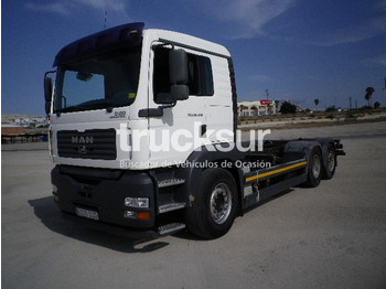 Camion transport containere/ swap body Man TGA 25.430