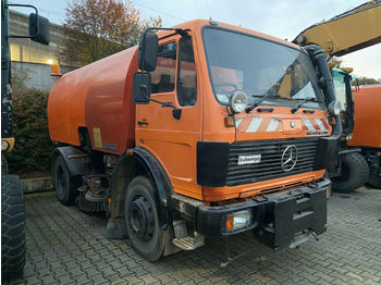 Camion transport containere/ swap body Mercedes-Benz 1414 K Kehrmaschine *Vollfunktionsfähig