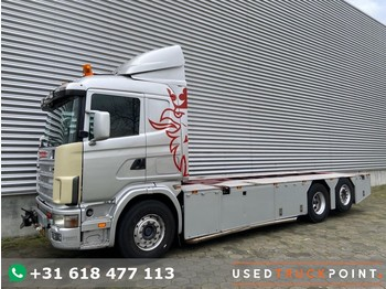 Camion transport containere/ swap body Scania R 144L-460 / 6X2 / Manual / Euro 2 / V8 / Airco / NL-Truck