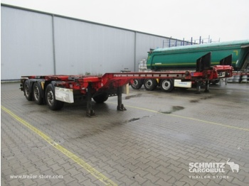 Semiremorcă transport containere/ swap body KRONE Auflieger Containerfahrgestell Slider