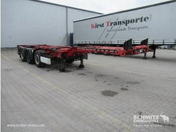 Semiremorcă transport containere/ swap body KRONE Auflieger Containerfahrgestell Slider